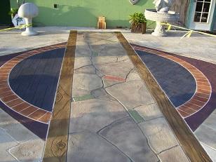 Окрашивание бетона кислотными красителями