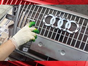 Красим решетку радиатора автомобиля: выбор материалов и пошаговая инструкция