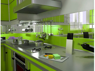 Стеклянный фартук для кухни: особенности крепления, уход и выбор дизайна