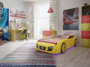 Оригинальная мебель для детской комнаты: кровати-машинки