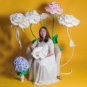 Изолон для творчества: Создание больших цветов из изолона своими руками