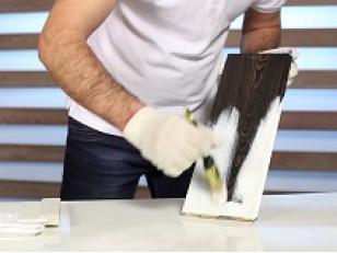 Технология покраски древесины.