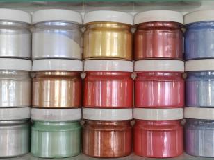Как покрасить стены перламутром