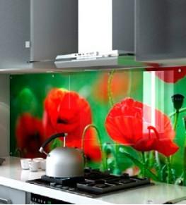 Кухонные фартуки из стекла - Tricolor