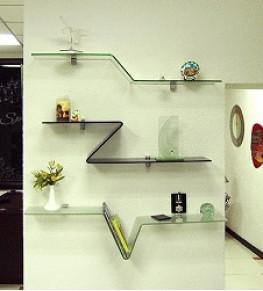 Полки из стекла - Tricolor