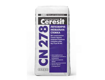 Легковыравнивающаяся стяжка 15-50 мм Ceresit CN 278