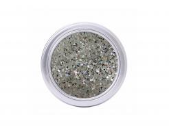 Глиттер ирис GIWS/1,5 мм (1/16) бело-серебряный Tricolor