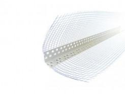 Профиль ПВХ перфорированный с сеткой 10х10мм 3м