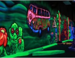 Краска флуоресцентная AcmeLight для бетона зеленая - интернет-магазин tricolor.com.ua