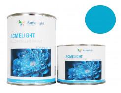 Краска флуоресцентная AcmeLight для пластика (2К) голубая
