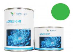 Краска флуоресцентная AcmeLight для пластика (2К) зеленая