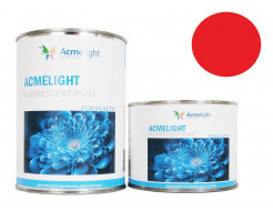 Краска флуоресцентная AcmeLight для пластика (2К) красная