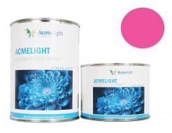 Краска флуоресцентная AcmeLight для пластика (2К) розовая