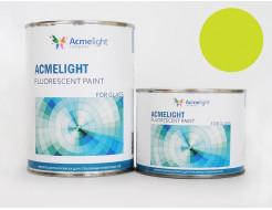 Краска флуоресцентная AcmeLight для стекла (2К) желтая