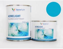 Краска флуоресцентная AcmeLight для стекла (2К) голубая
