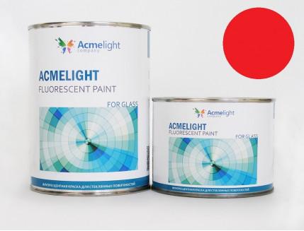 Краска флуоресцентная AcmeLight для стекла (2К) красная