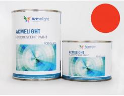 Краска флуоресцентная AcmeLight для стекла (2К) оранжевая