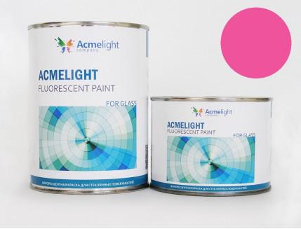 Краска флуоресцентная AcmeLight для стекла (2К) розовая - изображение 2 - интернет-магазин tricolor.com.ua