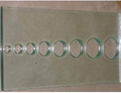 Сверление отверстий диаметром 14,15,20,26,30,35мм стекла 6 мм