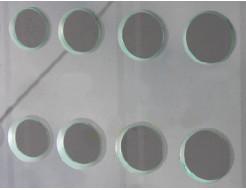 Сверление отверстий диаметром 45,50,55,60,80мм стекла 8 мм