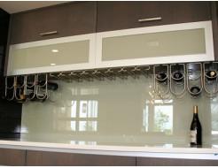 Купить Кухонный фартук из супер чистого стекла с покраской в 1 цвет