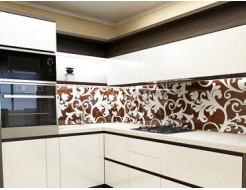 Купить Кухонный фартук из стекла с покраской в 2 цвета