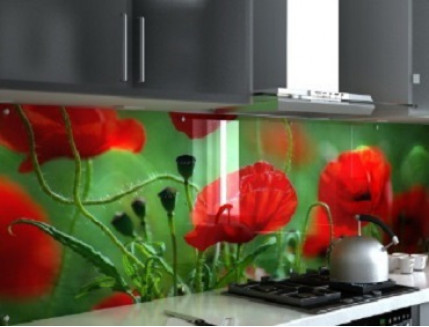 Купить Кухонный фартук из стекла с фотопечатью - 2