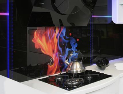 Кухонный фартук из стекла с фотопечатью - интернет-магазин tricolor.com.ua