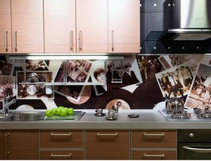 Купить Кухонный фартук из стекла с фотопечатью - 3
