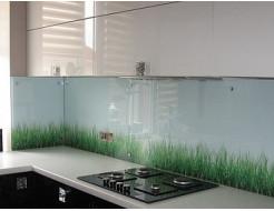 Кухонный фартук из супер чистого стекла фотопечать с вырезом - интернет-магазин tricolor.com.ua