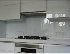 Купить Кухонный фартук из стекла прозрачный с вырезом