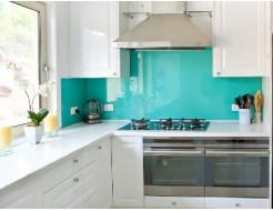 Купить Кухонный фартук из стекла с вырезом,покраска в 1 цвет