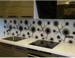Кухонный фартук из супер чистого стекла с вырезом,покраска в 3 цвета