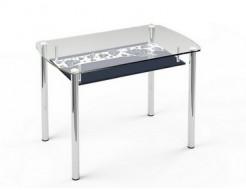 Купить Стеклянный обеденный стол S7 1200*750 верх:прозрачный низ:покраска