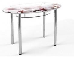 Купить Стеклянный обеденный стол O1 1200*700 верх:покраска низ:прозрачный