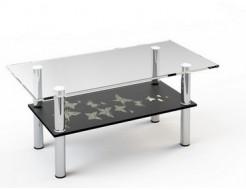 Купить Стеклянный журнальный стол JTS 012 1000*500 верх:прозр низ:покраска