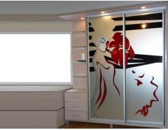 Двери для шкафа купе зеркало с покраской в 3 цвета