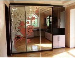 Двери для шкафа купе зеркало с покраской в 2 цвета