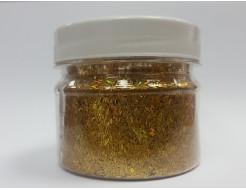Купить Глиттер люрекс голографический GGGO/0,3*1,5 мм золотой Tricolor - 1