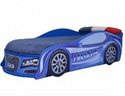 Купить Кровать машина AUDI полиция 80х180 ДСП