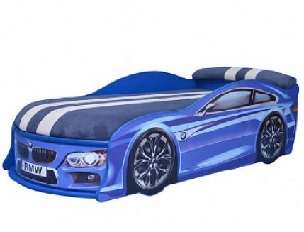 Кровать машина BMW синяя 70х150 ДСП - интернет-магазин tricolor.com.ua