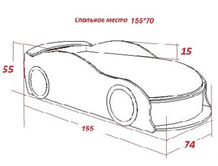 Кровать машина BMW синяя 70х150 ДСП - изображение 2 - интернет-магазин tricolor.com.ua