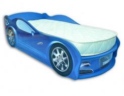 Кровать машина Jaguar синяя 70х150 ДСП