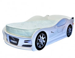 Кровать машина Jaguar белая 80х170 ДСП - интернет-магазин tricolor.com.ua