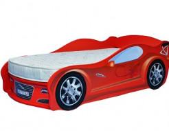 Кровать машина Jaguar красная 80х170 ДСП - интернет-магазин tricolor.com.ua