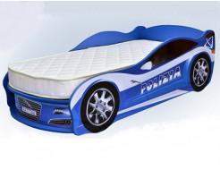 Кровать машина Jaguar полиция синяя 80х170 ДСП