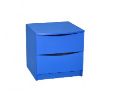 Прикроватная тумба синяя 50х50 ДСП