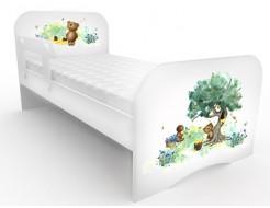 Кроватка стандарт Мишка коричневый 80х170 ДСП
