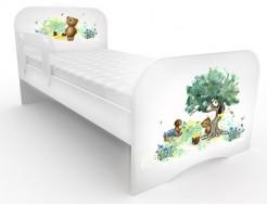Кроватка стандарт Коричневый мишка 80х160 ДСП