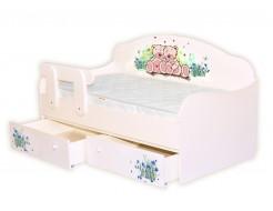 Кроватка диванчик Мишки/васильки 80х170 ДСП